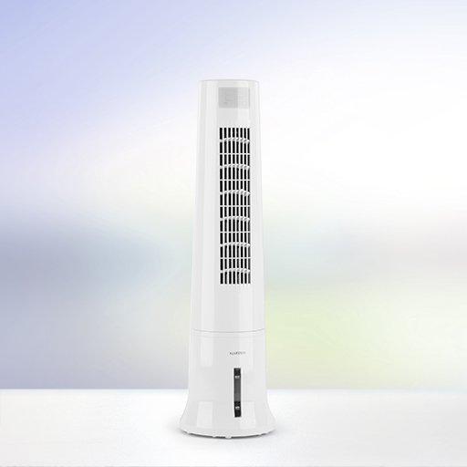 Luftkühler-Ventilator Highrise von Klarstein mit Luftreinigungs- und Befeuchtungsfunktion