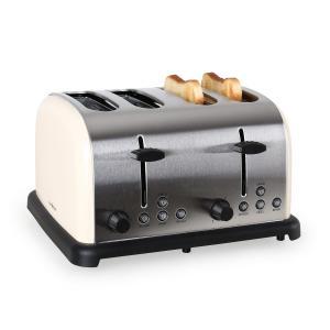 TK-BT-211-C Toaster 4-Scheiben Edelstahl 1650W creme