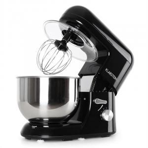 Bella Nera Küchenmaschine, 1200W 1,6 PS, 5 Liter schwarz