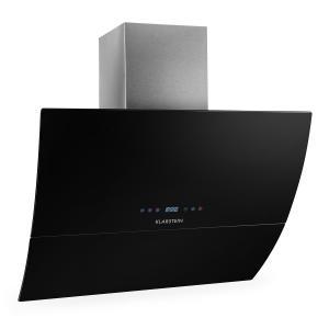 RGL90BL Dunstabzugshaube Kopffrei 90cm 550m³/h Glas Timer schwarz
