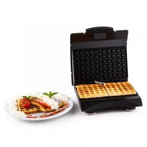 Waffle Buddy Waffeleisen 700 W 2 Heizflächen Edelstahl creme