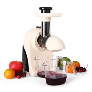 Fruitpresso Moreno Entsafter Saftpresse Slow Juicer 150W 80 U min crem