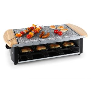 Chateaubriand Raclette Grill Naturstein Platte 8 Personen 1200W