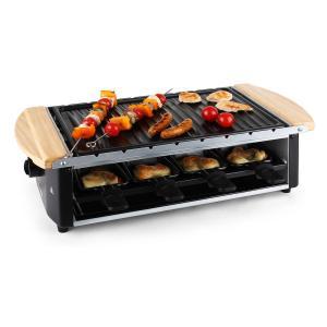Chateaubriand  Raclette-Grill Grillplatte Grillspieße 8 Personen 1200W