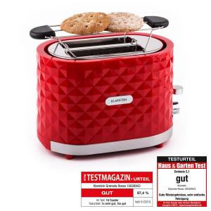 Granada Rossa Toaster 2 Schlitze 1000 W rot