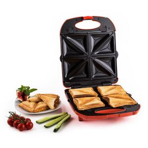 Trinity 3in1 Sandwich Maker XXL 1300 W rot