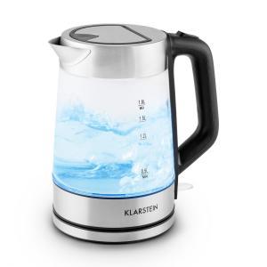 Pure Waters Wasserkocher Edelstahl 1,8 Liter 2200W blaues LED Design