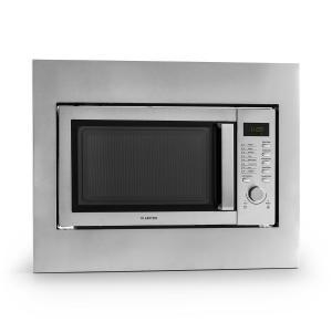 Steelwave Mikrowelle 23l 800W Grill 1000W Edelstahl Einbaurahmen