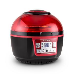 VitAir Turbo Heißluftfritteuse rot-schwarz 1400W Grillen Backen 9l
