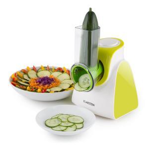 Carrot & Rock Salatschneider Gemüsehobel Reibe 150W 5 Aufsätze grün