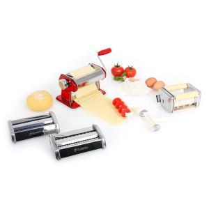 Siena Rossa Pasta Maker Nudelmaschine 3 Aufsätze Edelstahl rot