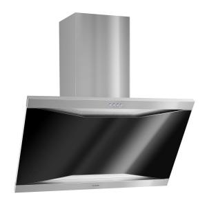 Masur Dunstabzugshaube Edelstahl 90cm Wandanbau 590 m³/h Glas