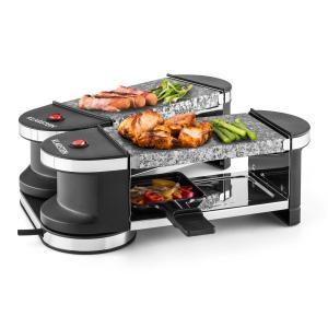 Tenderloin Mini Raclette Grill 600W 360° Basis 2 heiße Steine