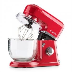 Allegra Rossa Küchenmaschine 800 W 3 l Glasschüssel rot