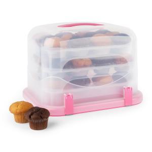 Pinkkäppchen XL Kuchenbox Cupcake-Carrier 36 Stk 34,5x25x25,5cm pink