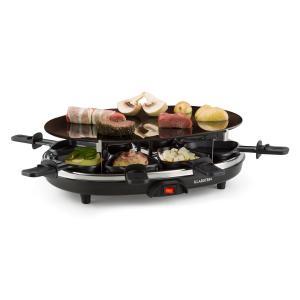 Blackjack Raclette-Grill 8 Personen Glaskeramik Edelstahl schwarz