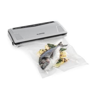 FoodLocker Slim Vakuumierer 130W 30 cm doppelte Schweißnaht 10 Beutel