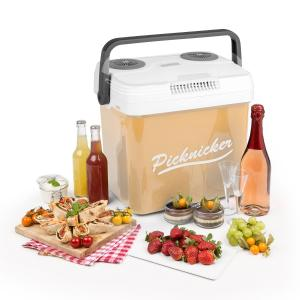 Picknicker XL Thermo-Kühlbox 32L A++ AC DC Auto beige