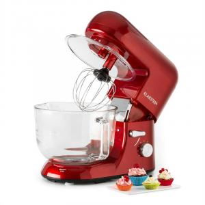 Bella Rossa 2G Küchenmaschine 1200W 2,5/5 Liter Glasschüssel rot