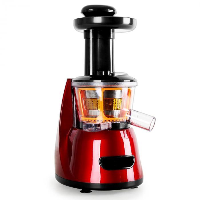 Fruitpresso Bella Rossa Slow Juicer Saftpresse 150W 70 U/min Rot Klarstein