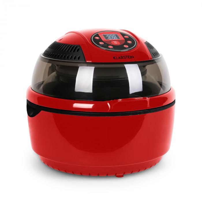vitair hei luftfritteuse 1400w grillen backen 9 liter rot rot klarstein. Black Bedroom Furniture Sets. Home Design Ideas