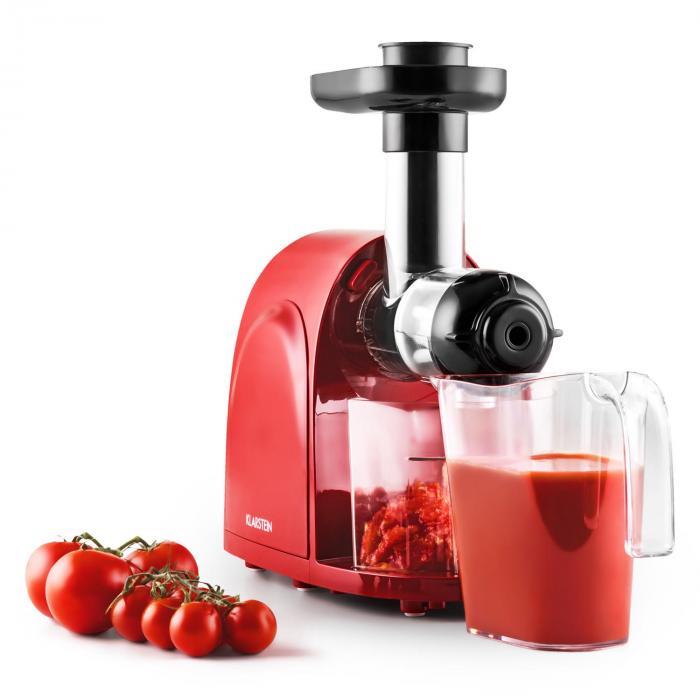 Klarstein Fruitberry Slow Juicer Entsafter : Slowjuicer Entsafter 150W 80 U/min rot-schwarz Rot Klarstein