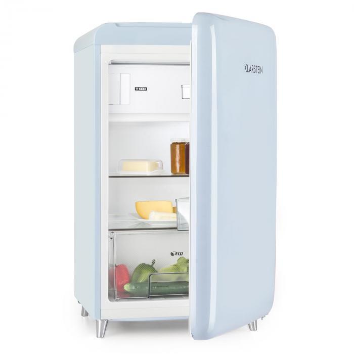 PopArt Blue Retro-Kühlschrank