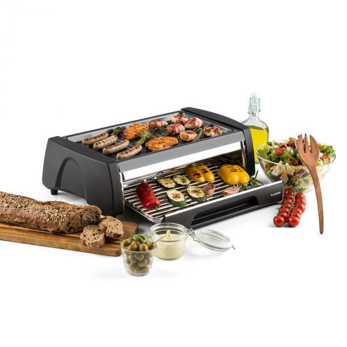 Doppeldecker 2-in-1-BBQ-Grill-Ofen