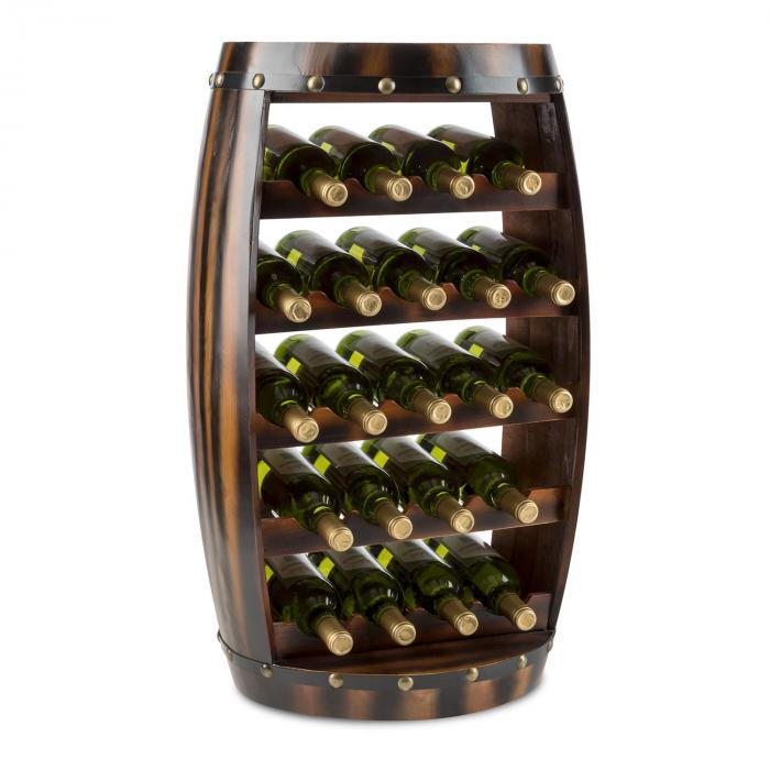 Barrica Holz-Weinregal Weinfass Flaschenständer 22 Flaschen Tanne