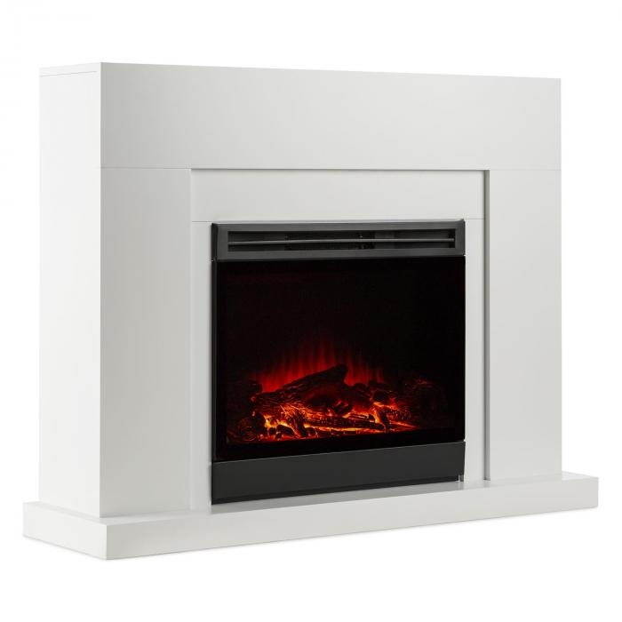blanca elektrischer kamin led flammensimulation 750 1500 w 5000 btu klarstein. Black Bedroom Furniture Sets. Home Design Ideas