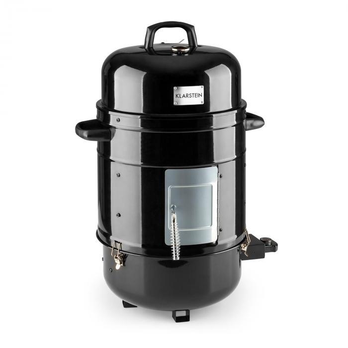 barney 3 in 1 bbq grill elektrogrill smoker 1800w 3x40cm thermometer klarstein. Black Bedroom Furniture Sets. Home Design Ideas