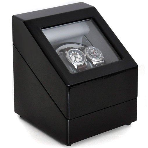 uhrenbeweger schaukasten vitrine 2 uhren watch winder klarstein. Black Bedroom Furniture Sets. Home Design Ideas