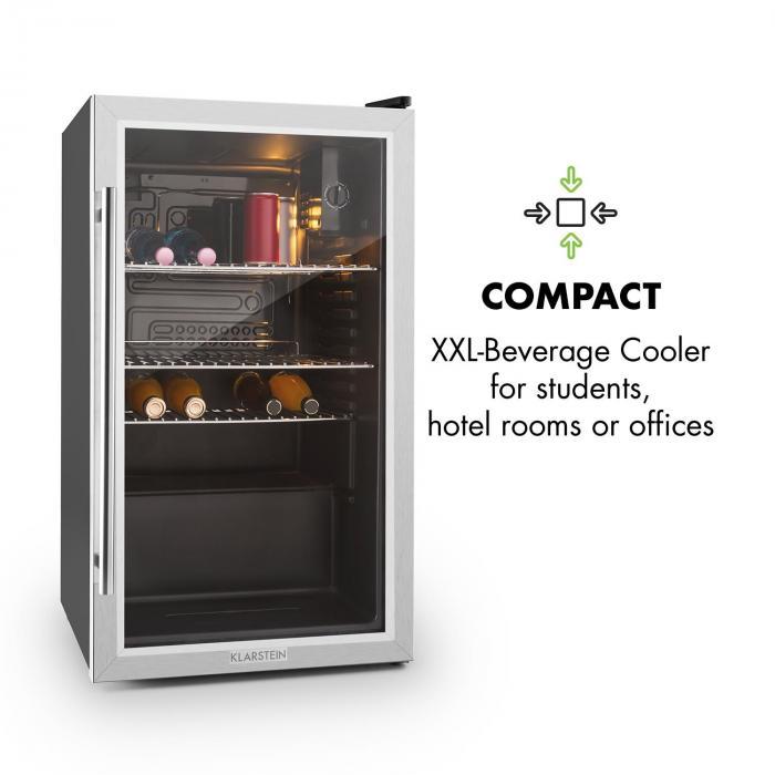 beersafe xxl k hlschrank 85 liter klasse a glast r. Black Bedroom Furniture Sets. Home Design Ideas