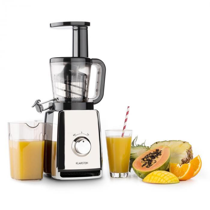 Slow Juicer Mango : Sweetheart Entsafter Slow Juicer 150W 32U/min Chrom Silber Klarstein