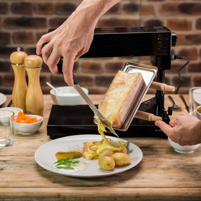 appenzell 2g traditioneller raclette grill 600 w standger t schwarz klarstein. Black Bedroom Furniture Sets. Home Design Ideas