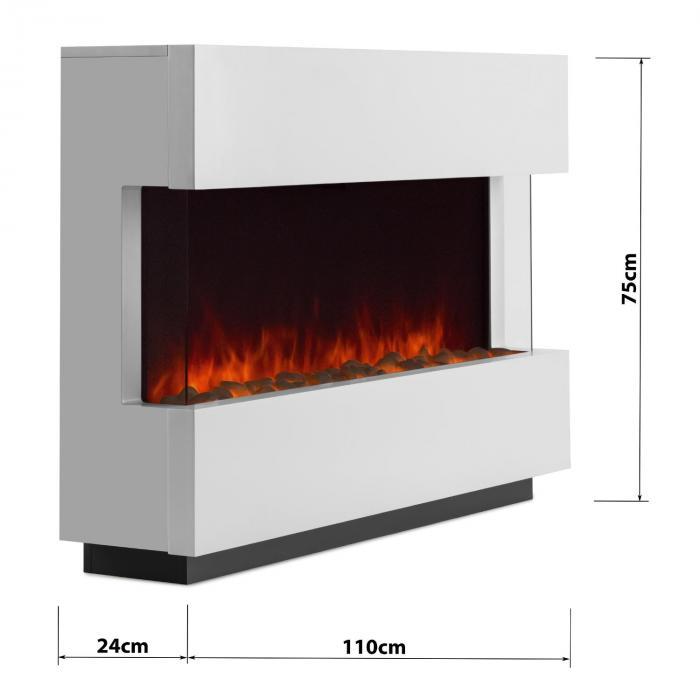 studio 1 elektrischer kamin led flammensimulation 750 1500 w 40m wei klarstein. Black Bedroom Furniture Sets. Home Design Ideas
