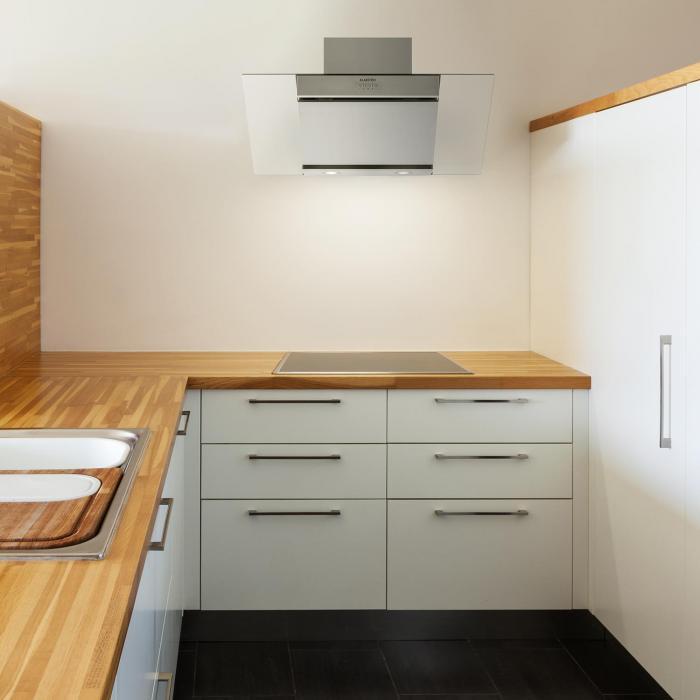 zola dunstabzugshaube edelstahl kopffrei 90cm wandanbau 635 m h glas klarstein. Black Bedroom Furniture Sets. Home Design Ideas