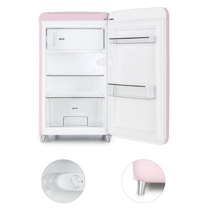popart pink retro k hlschrank a 108 l 13 l gefrierfach. Black Bedroom Furniture Sets. Home Design Ideas