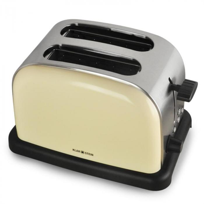 bt 318 c toaster 2 scheiben edelstahl 1000w creme creme klarstein. Black Bedroom Furniture Sets. Home Design Ideas
