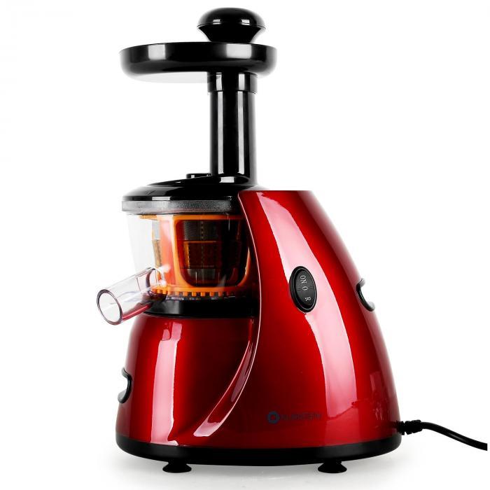 Fruitpresso Slow Juicer Von Klarstein : Fruitpresso Bella Rossa Slow Juicer Saftpresse 150W 70 U/min Rot Klarstein