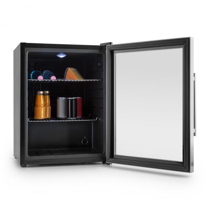 beersafe xl k hlschrank 60 liter klasse a glast r edelstahl silber 60 klarstein. Black Bedroom Furniture Sets. Home Design Ideas