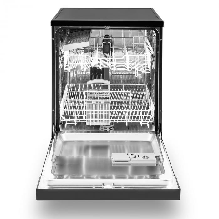 amazonia 60 geschirrsp lmaschine a 1850w 12 ma gedecke 49 db schwarz schwarz klarstein. Black Bedroom Furniture Sets. Home Design Ideas