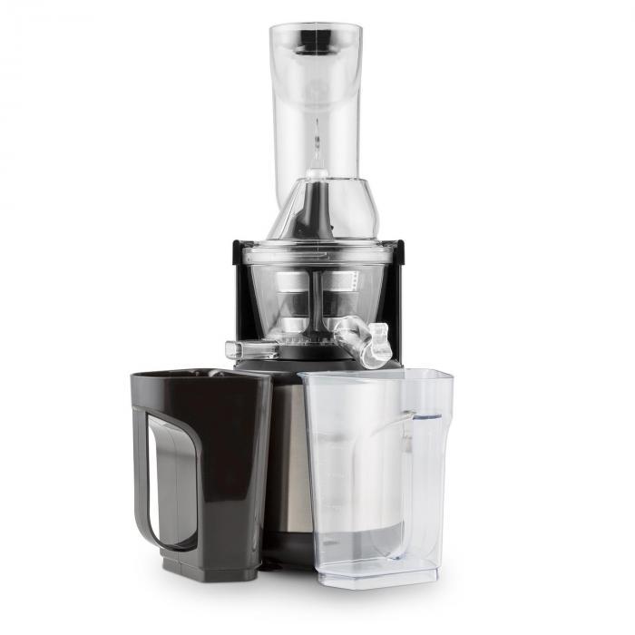 Klarstein Slow Juicer Ersatzteile : Fruitberry Slow Juicer 400W 60U/min Einfullrohr o8,5cm Edelstahl Silber Klarstein