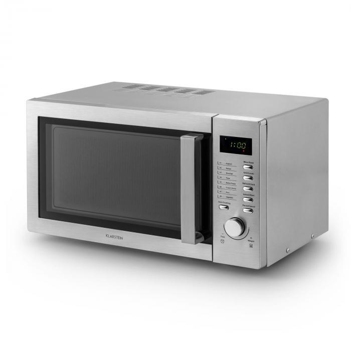 steelwave mikrowelle 23l 800w grill 1000w edelstahl klarstein. Black Bedroom Furniture Sets. Home Design Ideas