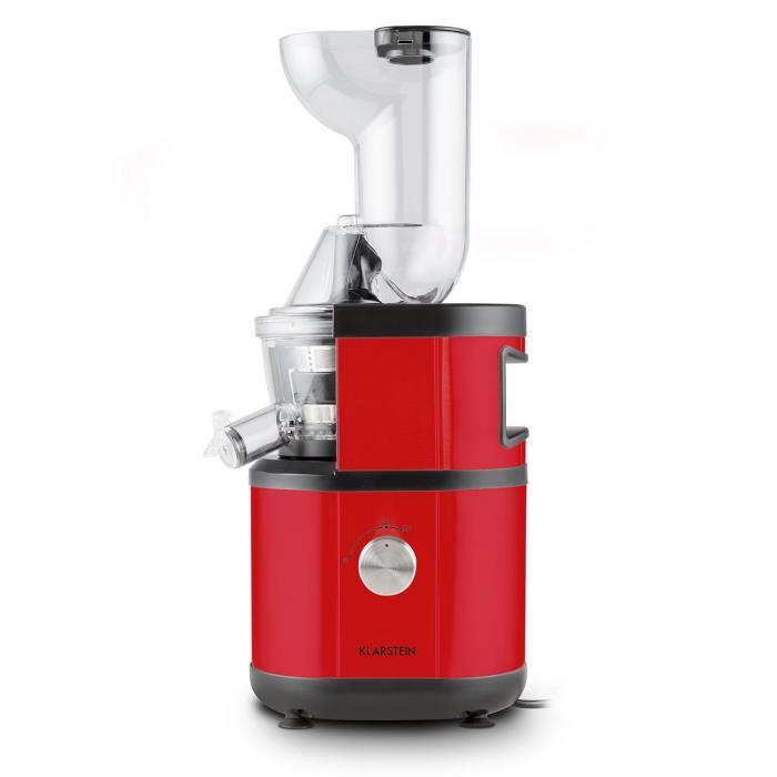Slow Juicer Kiwi : Fruitberry Slow Juicer 400W 60U/min Einfullrohr o 8,5cm Edelstahl rot Rot Klarstein