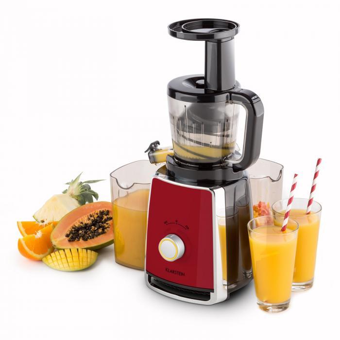 Slow Juicer Mango : Sweetheart Entsafter Slow Juicer 150W 32U/min rot Rot Klarstein