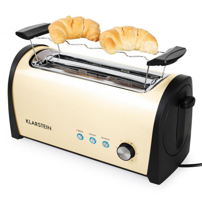 cambridge doppel langschlitz toaster 1400w creme creme. Black Bedroom Furniture Sets. Home Design Ideas