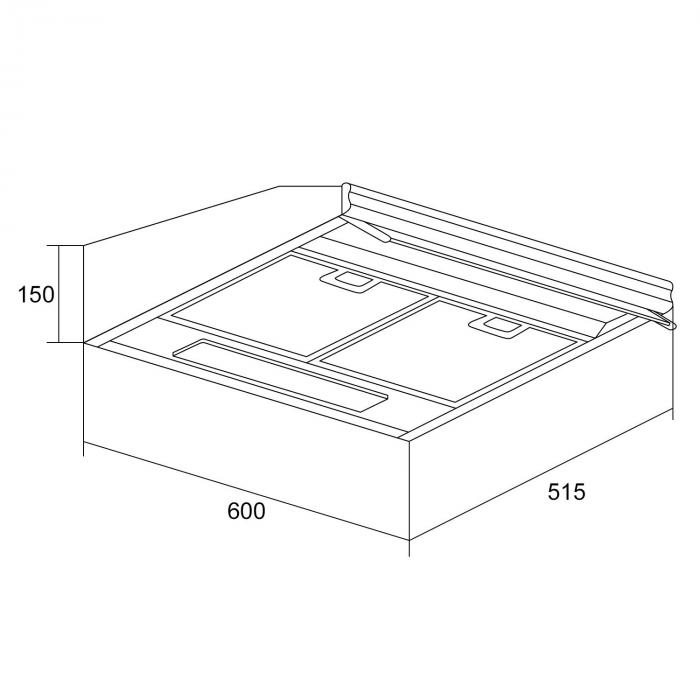 purista unterbau dunstabzugshaube. Black Bedroom Furniture Sets. Home Design Ideas