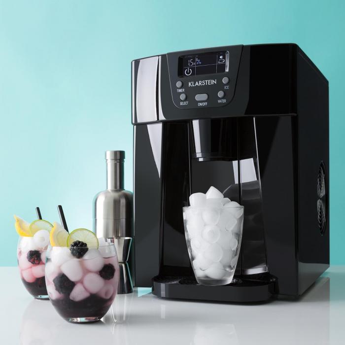 ice volcano 2g eismaschine led 12kg je 24h 2l 6 12min schwarz klarstein. Black Bedroom Furniture Sets. Home Design Ideas