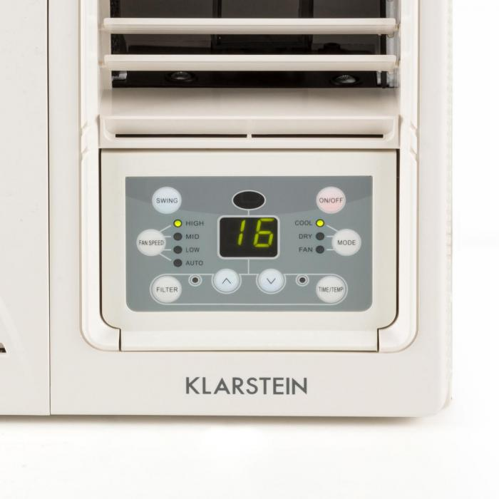 frostik 12 fenster klimaanlage 12000 btu klasse a r32 weiss klarstein. Black Bedroom Furniture Sets. Home Design Ideas